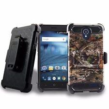 For ZTE Sonata 3 /Prestige /Maven 2 Camo Phone Cover + Belt Clip Holster Case