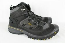 New Keen Men's Logan Mid Waterproof Hiking Boots 12m Black 1014004