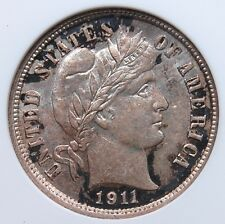 1911 P BARBER DIME (SMALL WHITE) ANACS MS 61 CLEAN AND LUSTROUS WITH CRUSTY RIMS