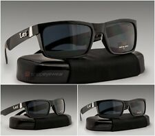 MEN sunglasses rectangular style classic dark lens all black Locs brand new