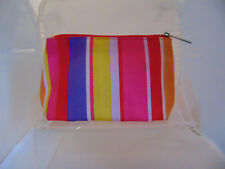 Clinique MULTI STRIP    print make up bag - brand new -SALE