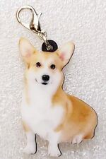Corgi Dog Realistic Acrylic Double-Sided Purse Charm Dangle Zipper Pull Jewelry