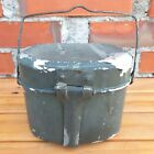 WWII GERMANY ARMY soldiers MESS KIT FOOD meal PORTION CASE holder TIN CONTAINER