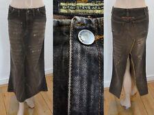 Bray Steve AlanRockJeansrockKnöchellangA-Linie Used Look Vintage Braun 28 1A
