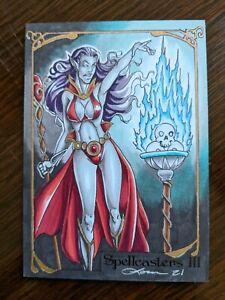 Loren Bobbitt Sketch Card Perna Studios Spellcasters 3 Dark Forces