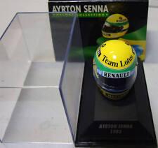Minichamps Ayrton Senna Lotus Renault Casque Helmet 1985 scale 1/8