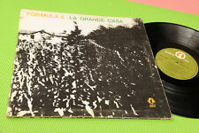 FORMULA 3 LP LA GRANDE CASA 1°ST ORIG ITALY PROG 1973 GAT COVER DEEP GROOVE