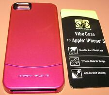 Body Glove Vibe case for Apple iPhone 5/5s/SE, High Gloss Hot Pink, slide on