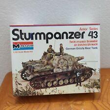 Rare Monogram 1/32 Sturmpanzer 43 German Grizzly Bear Tank Plastic Model Kit