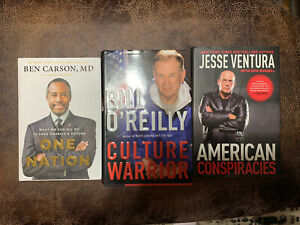 Ben Carson, Bill O'reilly And Jesse Ventura Books! All New Set