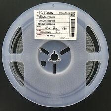 10Pcs Tantalum Capacitor SMD 6.3V22UF 22UF 6.3V NEC TEESVP0J226K8R 0805 P type