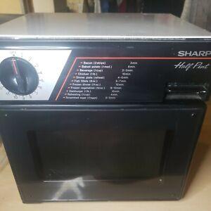 Vintage 1985 Sharp Half Pint Compact Microwave Dorm/RV/Boat R-4060  works