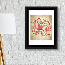 Wall Decoration Frames Octopus Wall Art Poster School Café Office Home Décor