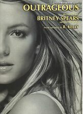 Britney Spears Outrageous   US Sheet Music