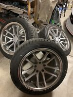 Rovos Wheels Cape Town 18x9 18x10.5 Staggered Satin Silver
