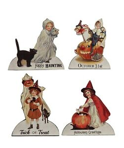 Bethany Lowe Set Of 4 Different Halloween Children Dummy Boards RL7300