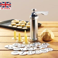 25pcs Biscuit Maker Cookies Press Cake Decorator Pump Machine Kit Syringe Gun