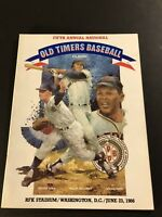 1986 Old Timers Day Program RFK Stadium WHITEY FORD Willie MAYS McCovey Unscored