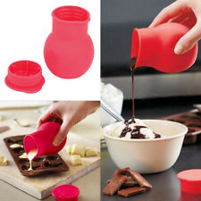 Red Silicone Pot Chocolate Melting Kitchen Bar Microwave Cooking Tool Gadget