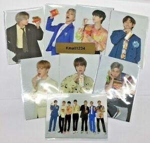 BTS McD Photo Card+BTS 8th Post Card Gift RM JIN JHOPE SUGA JIMIN V JK