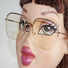 a6c0149c93 Montures lunettes de vue mixte Eyeglasses occasion vinted vintage 👓 métal  doré