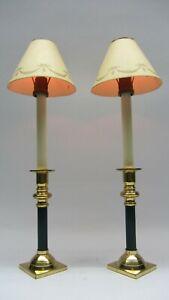 Paar Bouillotte Empire Stil Kerzenhalter Kerzenständer Messing vergoldet 24K