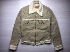 LEVIS 73592 Brown Fur Sherpa Lined Corduroy Trucker Jacket Woman Size L