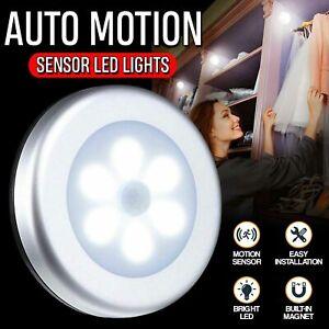 LED Toilet Bathroom Night Light PIR Motion Activated Sensor 6 Led White