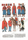 PLANCHE UNIFORMS PRINT WWII France Cavalerie Nord-Africaines II Spahi Algérien