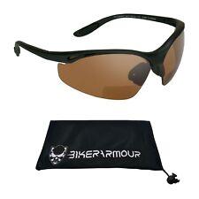 Bifocal HD Blue Blocker Sun Reader Sunglasses Z87 SPORT Wrap Driving Motorcycle