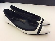 Pierre Hardy NEW BNWOB black & white Patent Leather Ballerina Shoes Size 37 Uk 4