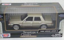 G LGB 1:24 Scala Dodge Aries K 1982 Motormax dettagliato pressofuso modello auto