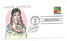 First Day Cover #3658 Oscar Salazar Love Me, Love My Cat 2002 Atlantic City