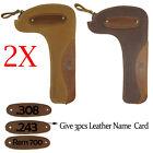 2X Leather Canvas Rifle Bolt Bag Hunting Gun Bolt Storage Holder Soft Padding US