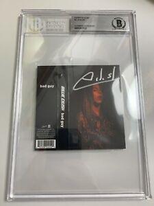 Billie Eilish HAND SIGNED Bad Guy Cassette Authentic ~ Beckett BAS Encapsulated!