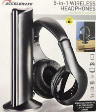 Acelere nuevo 5 en 1 Auricular inalámbrico Hi Fi Auriculares para PC TV MP3 Radio Fm