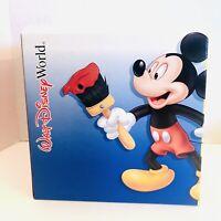 "RETIRED Walt Disney World 100 Yrs Of Magic Mickey 3Pc  9""x9""Unused Gift Box"