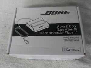 BOSE WAVE MUSIC SYSTEM  AND WAVE RADIO III DOCK FOR IPOD AND IPHONE NEW OPEN BOX