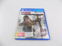 Mint Disc Playstation 4 Ps4 Tomb Raider: Definitive Edition Free Postage