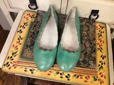 Miz Mooz Peachy Green Leather Flats Slip On Shoes Women's Sz EU 39, US 8.5