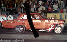 """Dougs Headers"" ""Chevy 2 Much"" 1965 Chevy Nova NITRO Funny Car PHOTO!"
