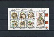 Gibilterra/Gibraltar 2001 BF 50 anno del serpente  MNH