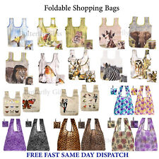 Reusable Foldable Ladies Shopping Bag Eco Animal Tote Handbag Fold Away Premium