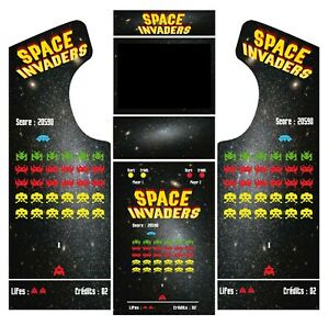 Stickers borne arcade - modèle Space Invaders