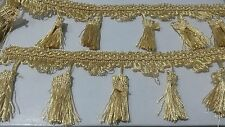 1 Yard Gold Lace Trim Fringe Tassel Tassle Curtain Piping Trim 3 Inches Wide