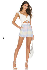 Lovers + Friends Some Kind Of Love Shorts Pastel Rainbow Revolve S NWT $138