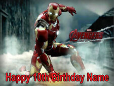IRON MAN  REAL EDIBLE ICING  CAKE TOPPER PARTY IMAGE FROSTING SHEET