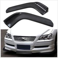 2x Carbon Fiber Style Car Front Bumper Lip Diffuser Splitter Canard Anti-Scratch