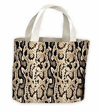 Snake Skin Pattern Tote Shopping Bag For Life