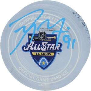Tyler Seguin Dallas Stars Signed 2020 ASG Crystal Puck - Filled with Ice
